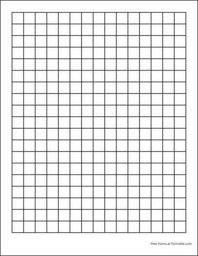 Free Graph Paper (2 Squares per Inch Heavy Black) from Formville