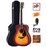 Yamaha FG720S Folk Acoustic Guitar Bundle with Hardshell Case, Tuner, Instructional DVD, Strings, Pick Card, and...