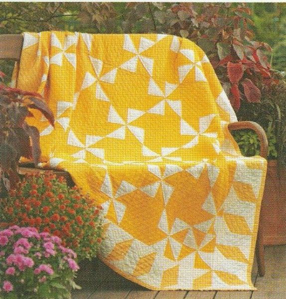 Pretty yellow quilt