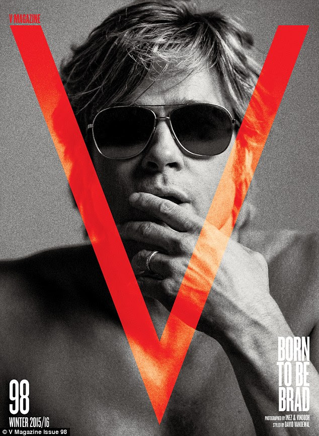 Still a heartthrob: The Oscar winner posed shirtless as he graced the winter cover for V Magazine