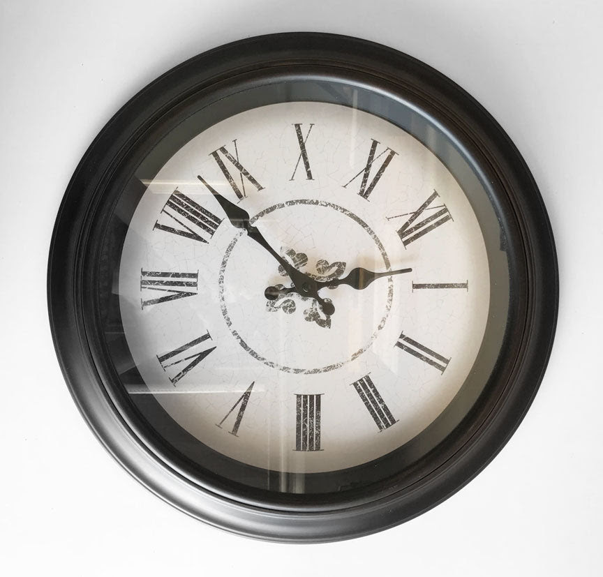Wall Clock Oil Rubbed Bronze Frame New Nest