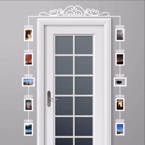 Over The Door Swirl Scroll Photo Frames Set Of 10 Vinyl Wall Decals 22