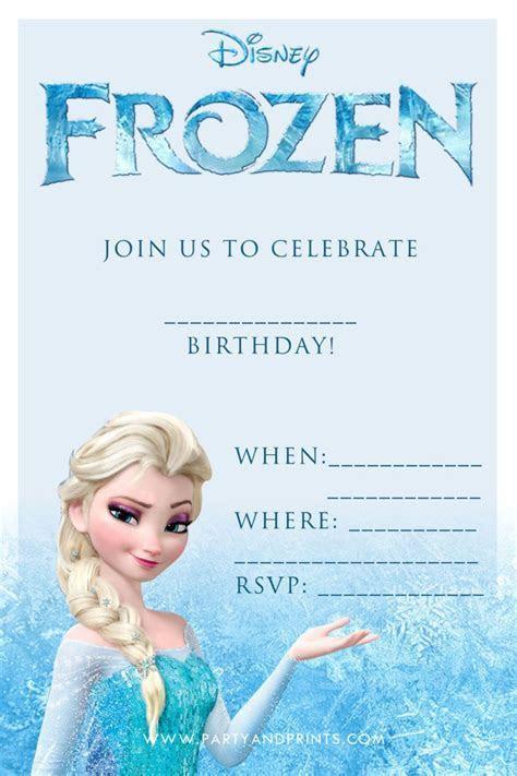 Birthday. Disney Frozen Blank Birthday Party Invitation