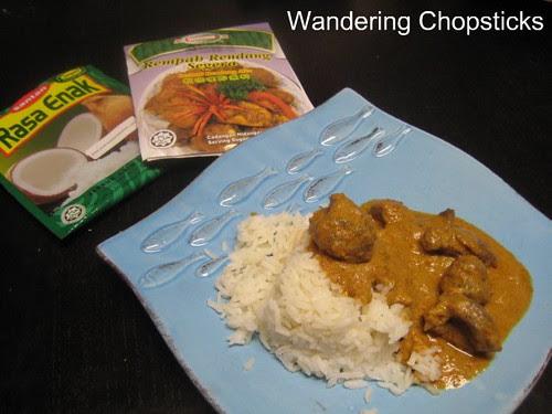 ChanHong Rempah Rendang Segera (Instant Rendang Mix) and Santan Rasa Enak Serbuk Krim Kelapa (Coconut Milk Powder)