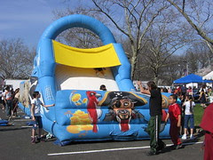 Giant puffy pirate slide