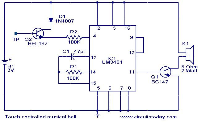 touch-controlled-musical-bell-circuit