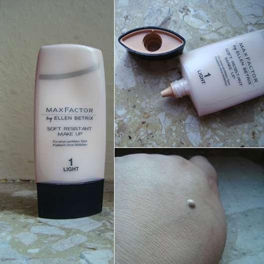 Max Factor by Ellen Betrix Soft Resistant Make-Up, Nuance: 1 Light