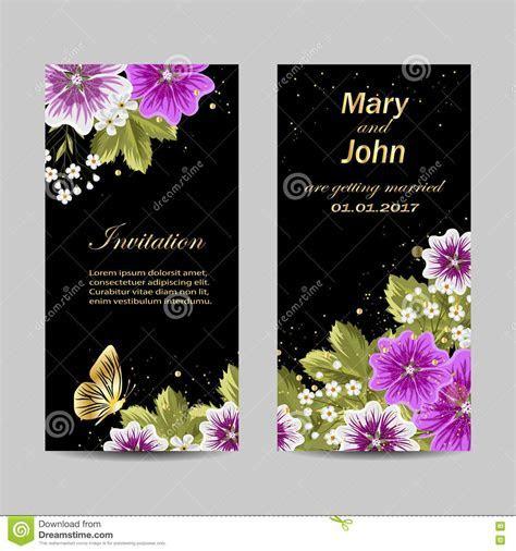 Set Of Wedding Invitation Cards Design. Stock Vector