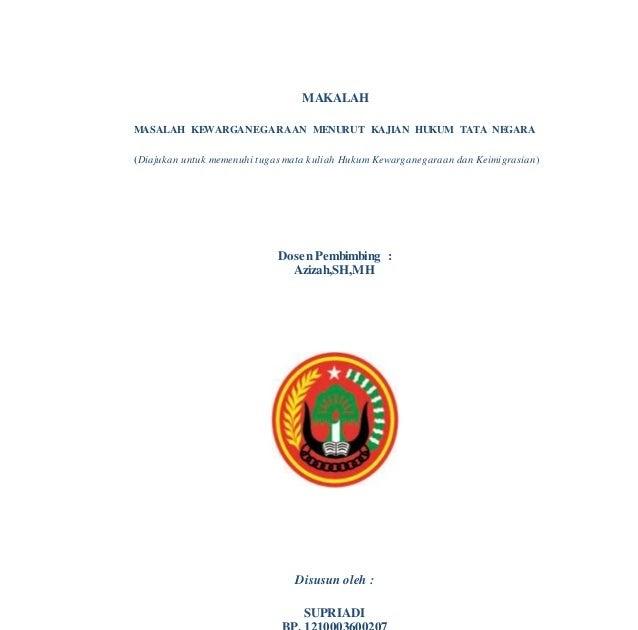 Makalah Jurnal Hukum Administrasi Negara - Makalah hukum ...