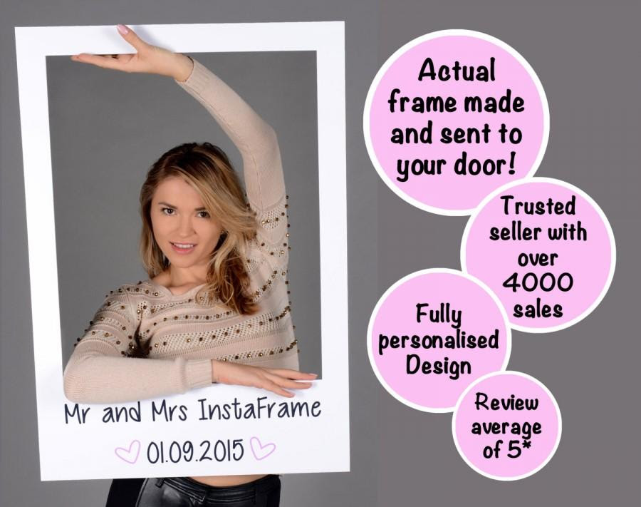 Largemedium Personalised Photo Booth Prop Frames Perfect For