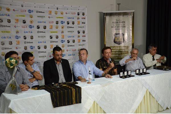 A direção do ABC realizou uma coletiva para divulgar o calendário de festas do centenário, como o amistoso diante do Corinthians/SP