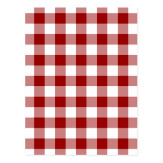 Red and White Gingham Pattern Postcard