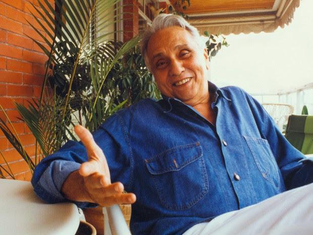 Retrato do ator Jorge Dória durante entrevista em 1992 no Rio de Janeiro (Foto: Jonas Cunha/Estadão Conteúdo)
