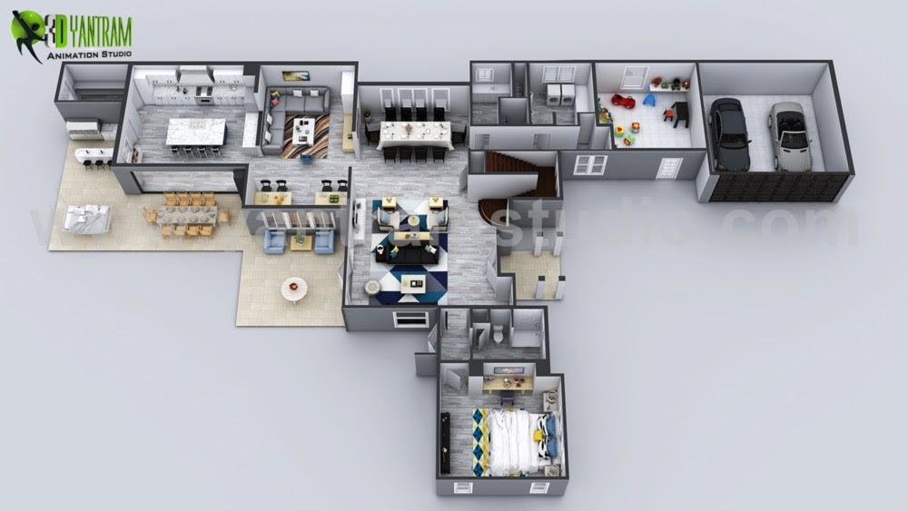 Yantram Studio 3d Architectural Animation 3d Floor Plan Design Create House Design Ideas By Yantram 3d Home Floor Plan Design Los Angeles Usa