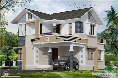 stylish small home design kerala floor plans house plans