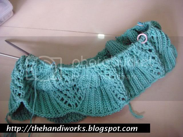 knitting in the round lace top