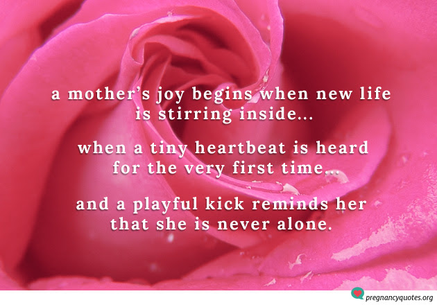 A Mothers Joy Begins When New Life Inspirational Quote Pregnancy
