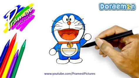 contoh gambar ilustrasi kartun doraemon  mudah digambar