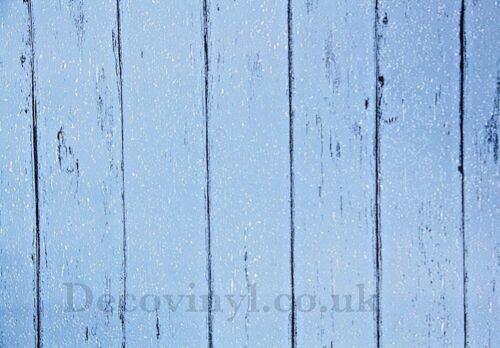Blue Distressed Wood Sticky Back Plastic Self Adhesive Vinyl Fablon Wallpaper Uk