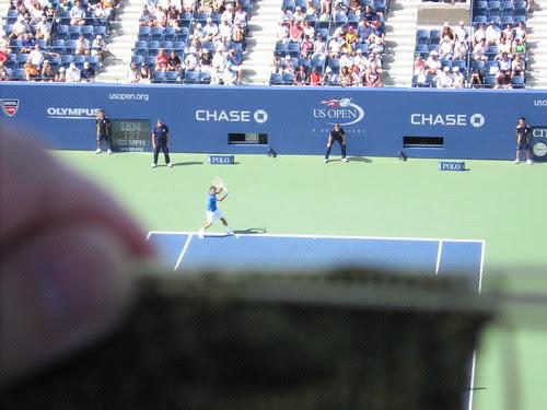 Roger Federer and sock
