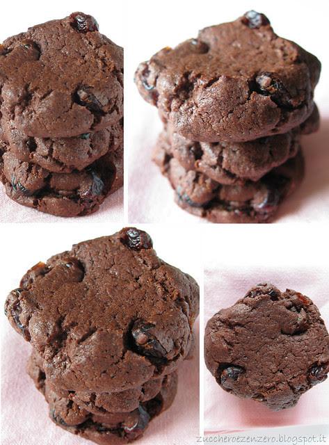 Dark cranberries cookies