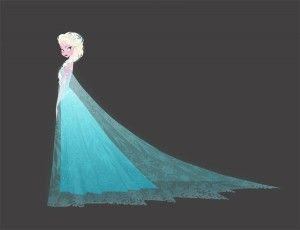 Concept art from Disney's Frozen - Elsa by Brittney Lee