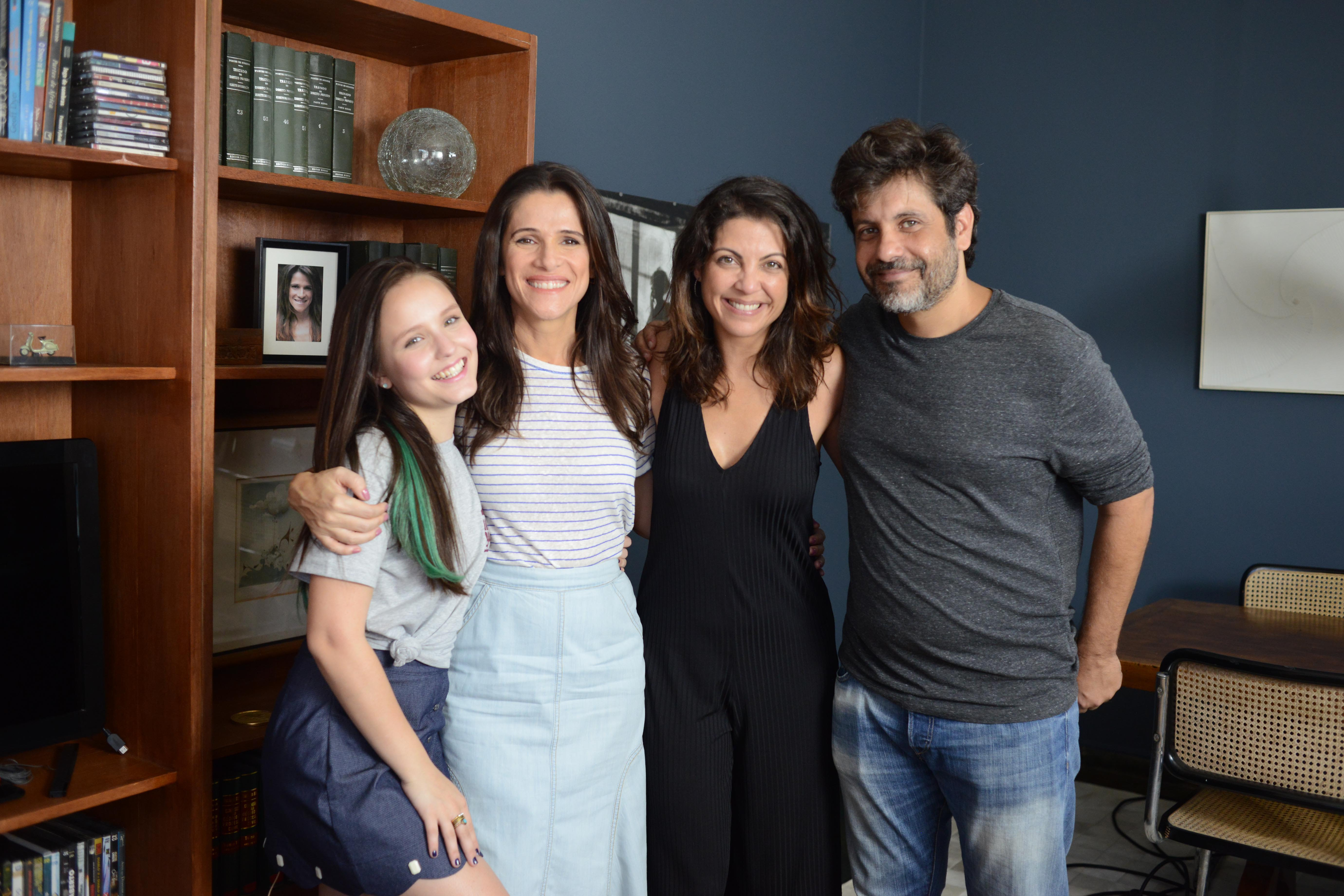 Larissa Manoela, Ingrid Guimarães, Thalita Rebouças e Pedro Vasconcelos (Foto: Divulgação)