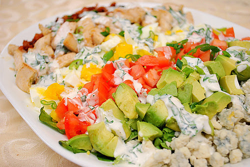 Chicken Cobb Salad with Ranch Dressing