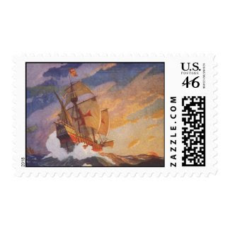 Ships of Christopher Columbus stamp