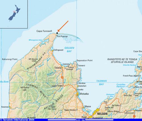 map Cape Farewell