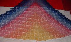 leaf lace shawl2 drying