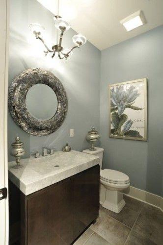 blue grey wall color