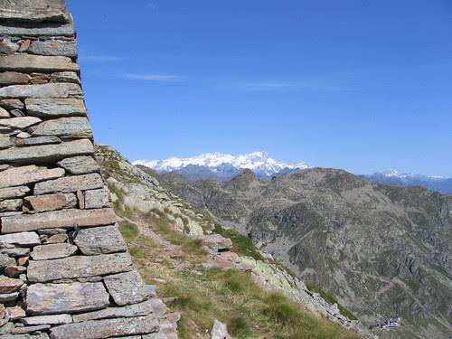Il Monte Rosa visto dal Mucrone