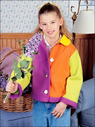 Free Coat Of Many Colors Fleece Jacket For Girls Sewing