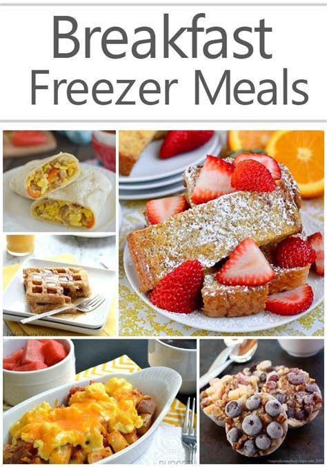 breakfast freezer meals easy recipes