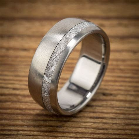 Meteorite wedding band by Spexton. Unique and stunning men