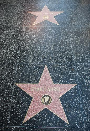 Dick Van Dyke's and Stan Laurel's Walk of Fame Stars