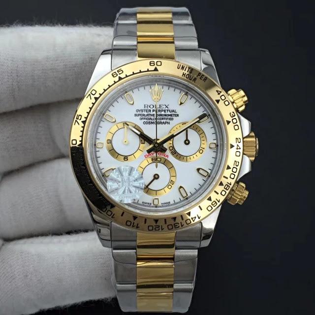 Replica Rolex Daytona Two Tone Cream White Dial