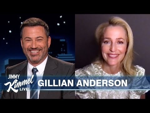 Gillian Anderson Talks The Crown & Plays X-Files Trivia Game [Jimmy Kimmel Live]