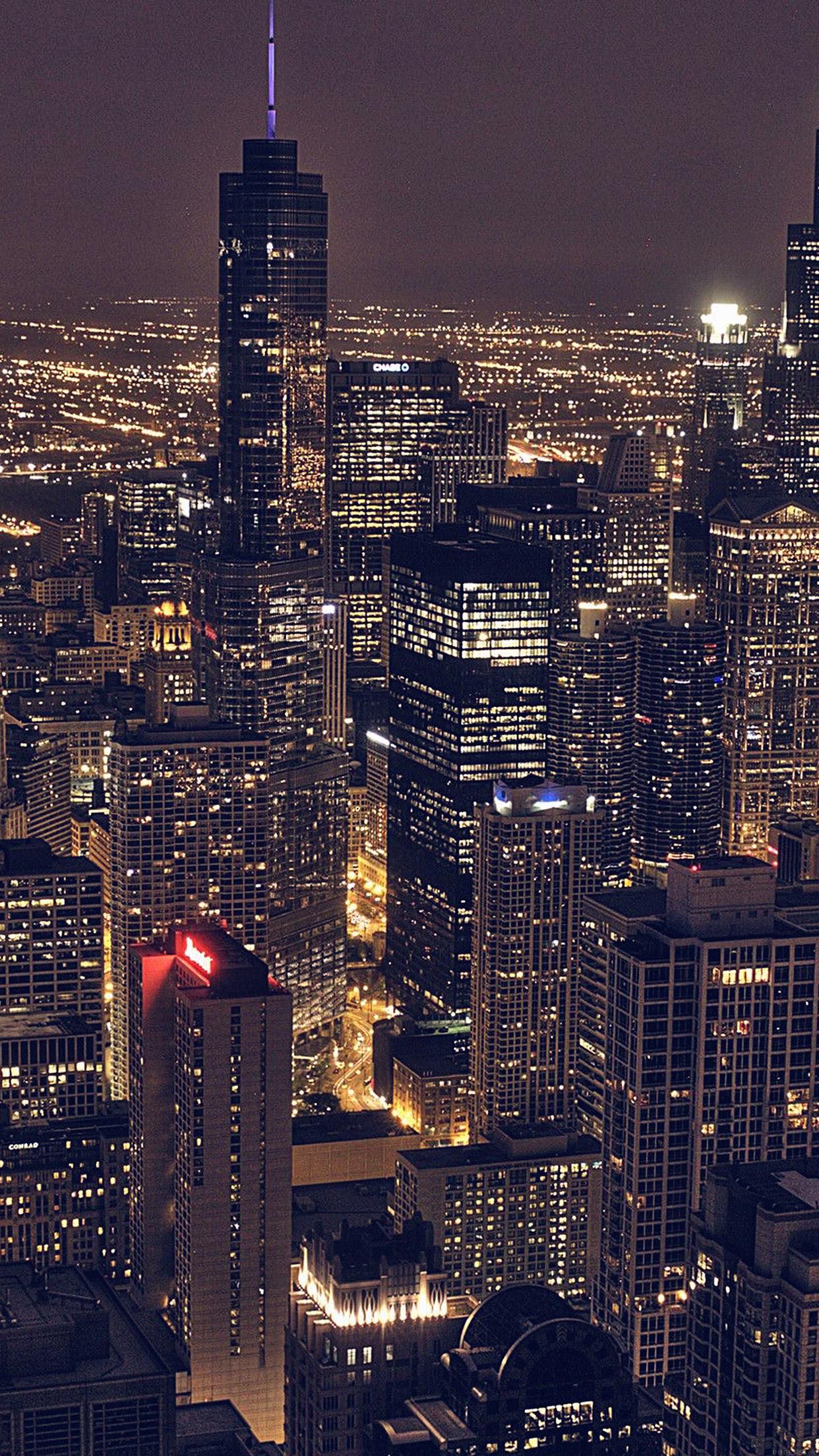 シカゴシティ航空夜景iphone 6 Plusアーキテクチャ壁紙 Iphoneチーズ