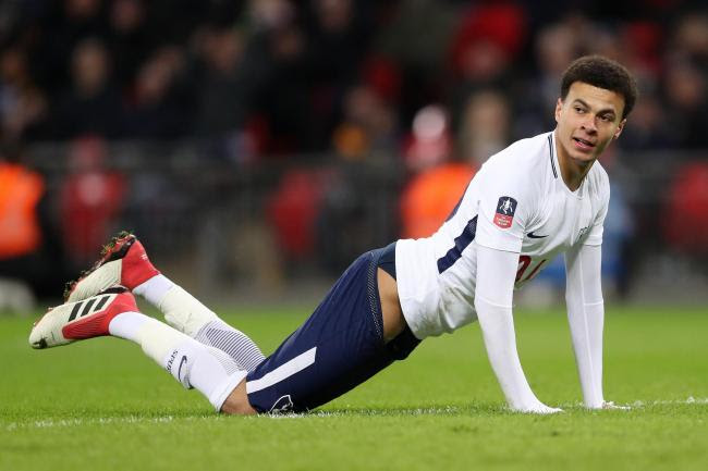 Tottenham Hotspur's Dele Alli during the Emirates FA Cup, fourth round replay match at Wembley Stadium, London. (Adam Davy/PA Wire)