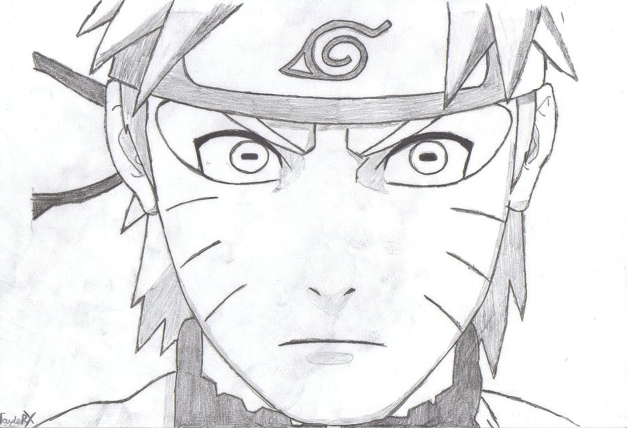 85 Anime  Naruto Gambar  Pensil Drawing Naruto Pencil
