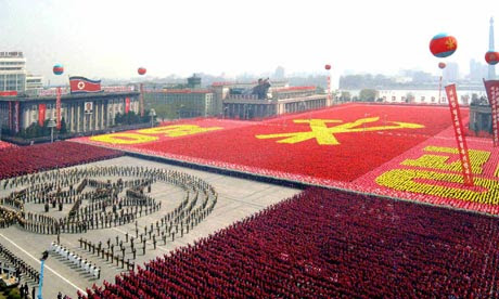 north korean women marching. North Korean soldiers marching