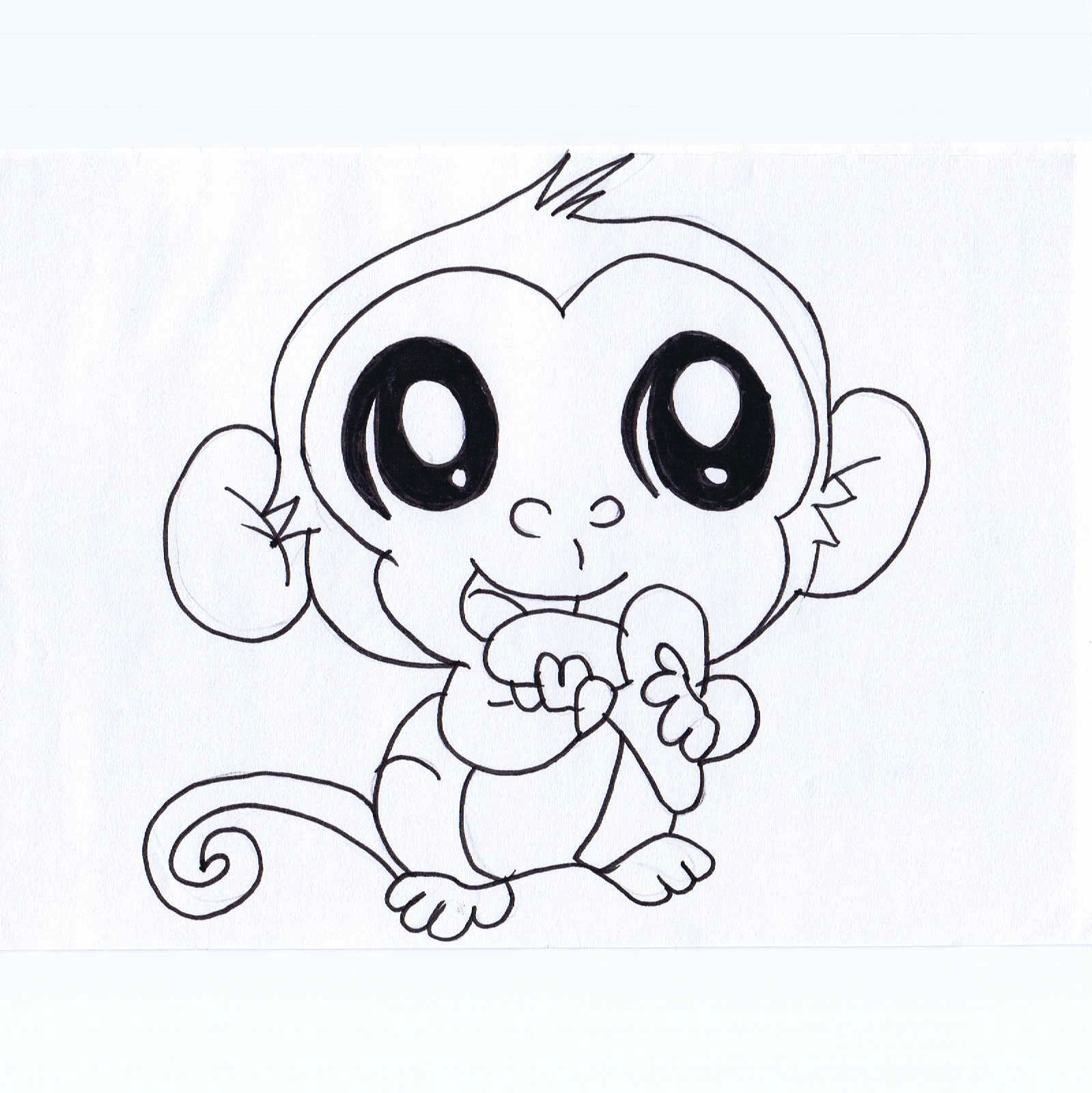 Cute Baby Monkey Coloring Pages | Top Free Coloring Pages ...