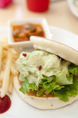 Shrimp & Avocado Pancakes with Wasabi Mayonnaise Sauce, Pancake Days, Harajuku