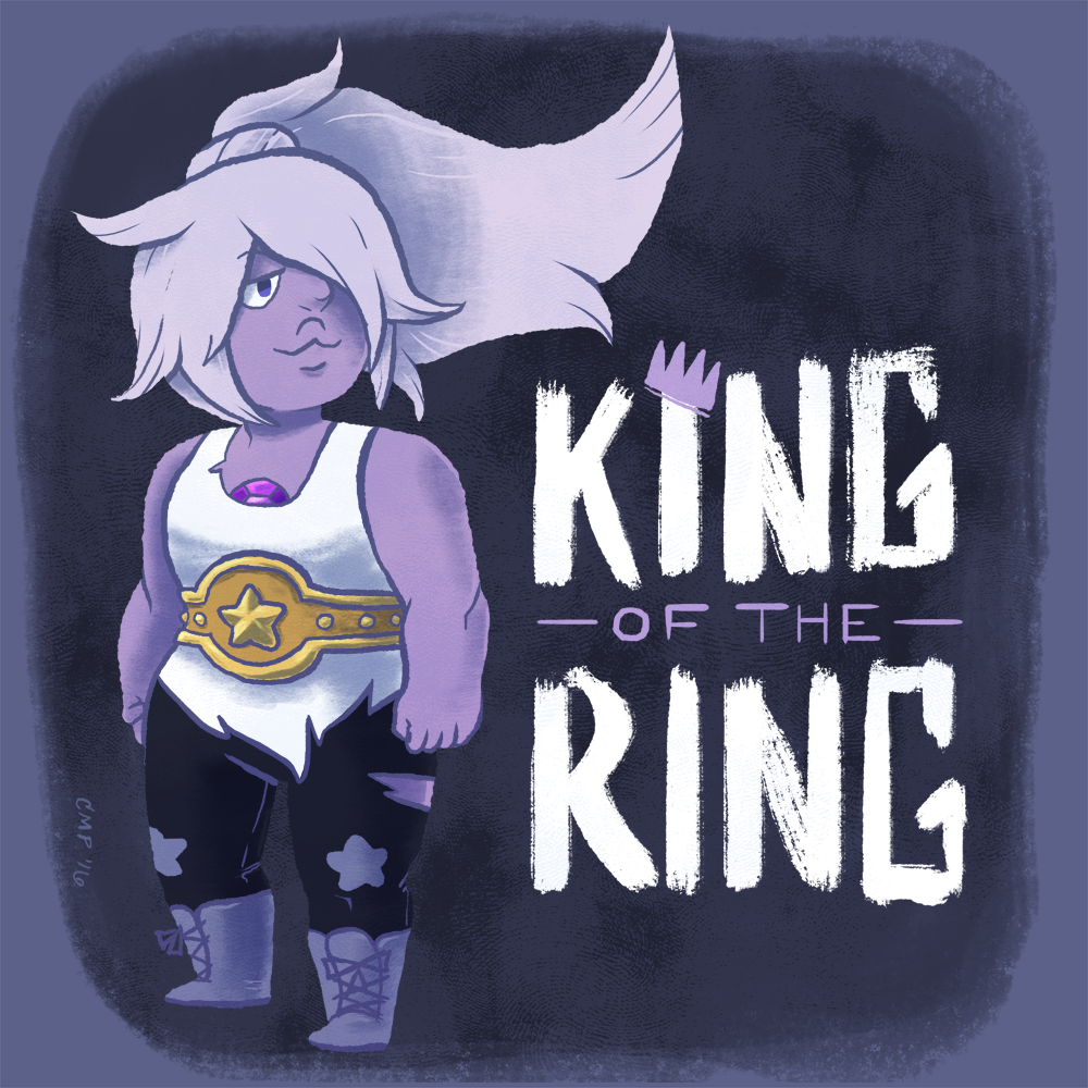 "09−19−16 ""AMETHYST: KING OF THE RING"" I forgot that I did this a bit ago before I had some technical difficulties with my computer. Now it's back and better than ever, so here we go! photoshop..."