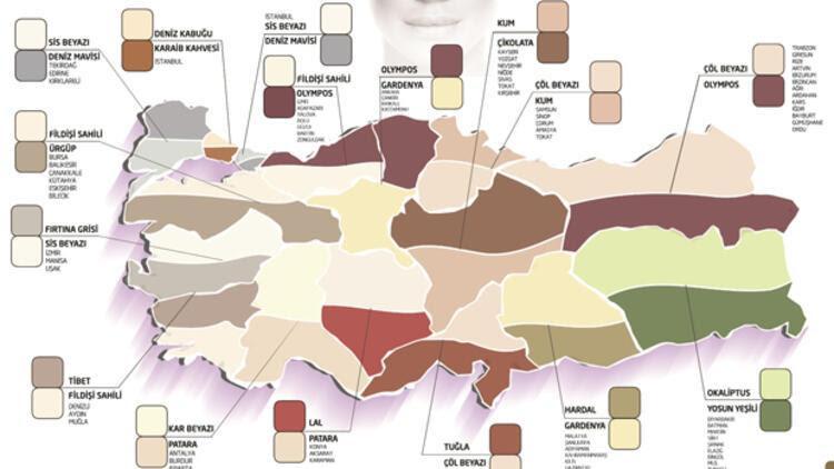 Türkiyenin Renk Haritası çıkarıldı Sondakika Ekonomi Haberleri