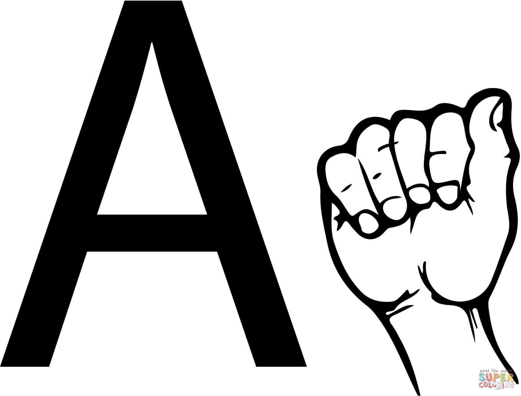 9500 Top Coloring Pages Sign Language Alphabet Download Free Images