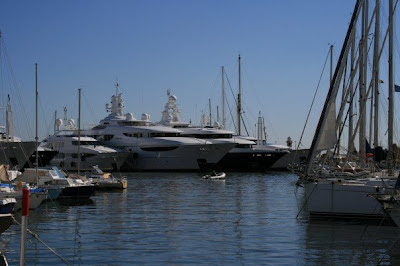 Luxury yachts in Cannes Harbour