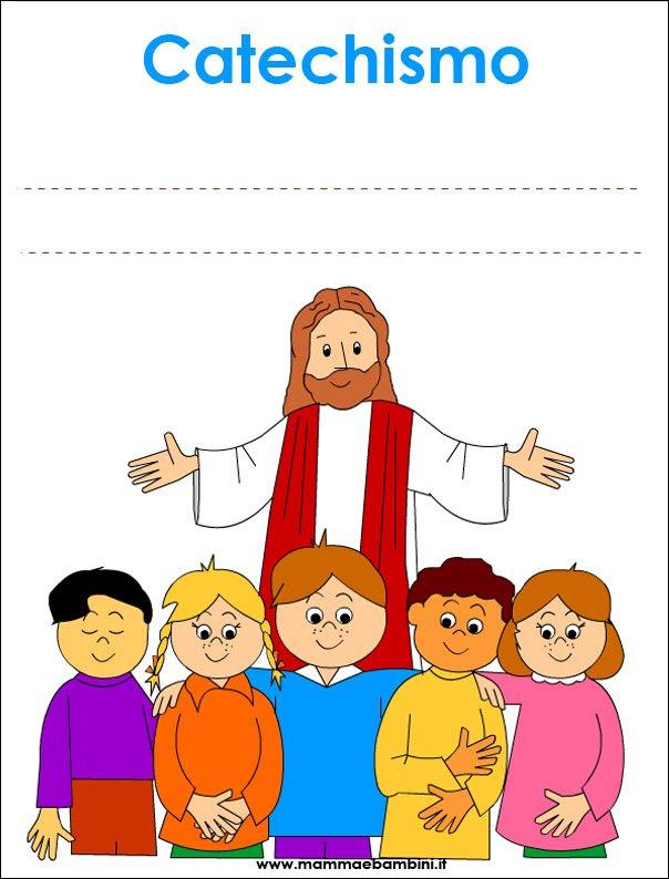 Copertina Quaderno Per Catechismo Da Stampare Mamma E Bambini